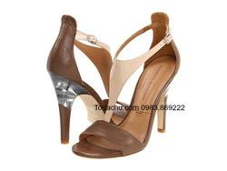 Ảnh số 84: Sigerson morrison size 7  Sandals màu nude pha be da thật  Gót pha màu bạc sang trọng , quai cài sau điều chỉnh rộng hẹp cổ chân ( có thể thay móc ) - Giá: 1.000