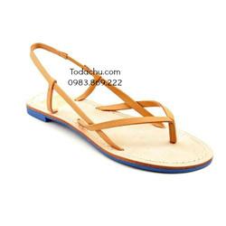 ?nh s? 95: DV By Dolce Vita size 6  Sandals đế thấp màu nâu sáng  Quai có khóa chỉnh rộng hẹp cổ chân - Giá: 900.000