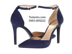 ?nh s? 96: Jessica Simpson size 6  Sandals màu xanh ngọc bích  Quai cổ chân nữ tính , da lộn  Cao 9cm - Giá: 1.700.000