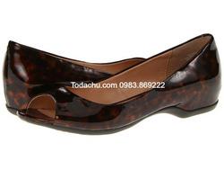 Ảnh số 98: Mootsies Tootsies size 6  Giày đế thấp da bóng màu nâu đồi mồi  Cao 1.5cm - Giá: 900.000