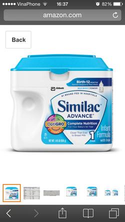 Ảnh số 1: similac advance - Giá: 550.000