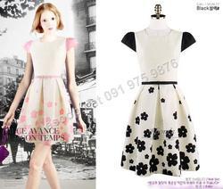 Ảnh số 99: B295: Pink, Black/ 55, 66, 77 - Váy liền xòe Hàn Quốc - Giá: 1.720.000