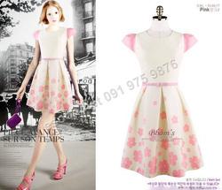 Ảnh số 98: B295: Pink, Black/ 55, 66, 77 - Váy liền xòe Hàn Quốc - Giá: 1.720.000