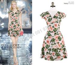 Ảnh số 83: B303: Ivory, Navy/ 55, 66 - Váy liền xòe họa tiết Hàn Quốc - Giá: 1.480.000