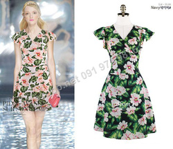 Ảnh số 82: B303: Ivory, Navy/ 55, 66 - Váy liền xòe họa tiết Hàn Quốc - Giá: 1.480.000