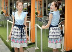 Ảnh số 75: B307: Ivory, Blue/ 55, 66 - Váy liền xòe Hàn Quốc - Giá: 1.740.000