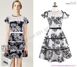 Ảnh số 73: B308: Ivory, Navy/ 55, 66 - Váy liền xòe Hàn Quốc - Giá: 1.850.000