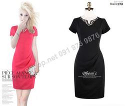 Ảnh số 71: B309: Cherry Pink, Black/ 55, 66 - Váy liền công sở Hàn Quốc - Giá: 1.830.000