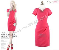 Ảnh số 70: B309: Cherry Pink, Black/ 55, 66 - Váy liền công sở Hàn Quốc - Giá: 1.830.000