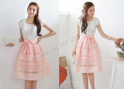 Ảnh số 64: B312: Peach Pink, Navy, Black/ S, M - Váy liền xòe Hàn Quốc - Giá: 2.030.000