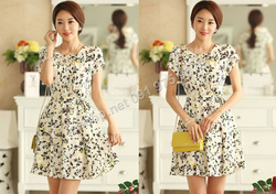 Ảnh số 61: B314: Ivory/ S, M - Váy liền xòe họa tiết Hàn Quốc - Giá: 1.950.000