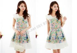 Ảnh số 58: B316: Pink, Blue/ F - Váy liền xòe họa tiết Hàn Quốc - Giá: 1.620.000