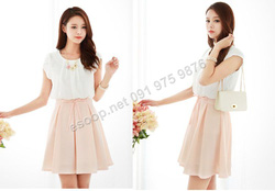 Ảnh số 56: B318: Pink, Sky Blue/ 55, 66 - Váy liền xòe Hàn Quốc - Giá: 1.560.000
