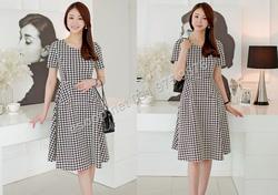 Ảnh số 48: B326: Sora, Black/ 55, 66, 77 - Váy liền xòe họa tiết Hàn Quốc - Giá: 1.900.000