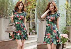 Ảnh số 44: B330: Ivory, Black/ S, M - Váy liền xòe họa tiết Hàn Quốc - Giá: 1.720.000