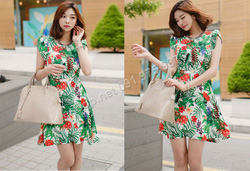 Ảnh số 43: B330: Ivory, Black/ S, M - Váy liền xòe họa tiết Hàn Quốc - Giá: 1.720.000