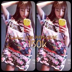 Ảnh số 21: Áo váy hoạ tiết hoa 3D - Giá: 150.000