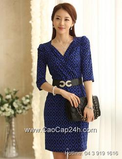 Ảnh số 41: Váy liền họa tiết thời trang Hàn Quốc SA14OP18 - Giá: 1.750.000