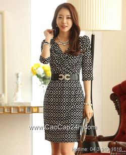 Ảnh số 42: Váy liền họa tiết thời trang Hàn Quốc SA14OP18 - Giá: 1.750.000
