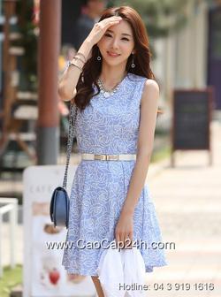 Ảnh số 43: Váy liền họa tiết thời trang Hàn Quốc SA14OP23 - Giá: 1.680.000