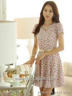 Ảnh số 46: Váy liền họa tiết thời trang Hàn Quốc SA14OP22 - Giá: 1.710.000