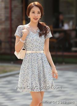 Ảnh số 47: Váy liền họa tiết thời trang Hàn Quốc SA14OP22 - Giá: 1.710.000