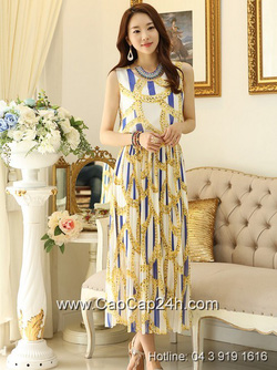 Ảnh số 50: Váy liền maxi họa tiết thời trang Hàn Quốc 25962 - Giá: 1.850.000