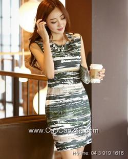 Ảnh số 56: Váy liền họa tiết thời trang Hàn Quốc 26044 - Giá: 2.170.000