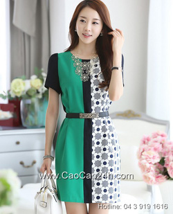 Ảnh số 59: Váy liền họa tiết thời trang Hàn Quốc 200501 - Giá: 1.660.000