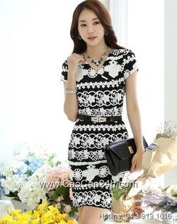Ảnh số 65: Váy liền họa tiết thời trang Hàn Quốc 220543 - Giá: 1.840.000