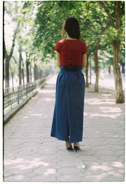 Kết quả hình ảnh cho váy bò chống nắng