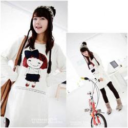 Ảnh số 5: Áo váy bầu cotton dễ thương XD 0068 - Giá: 180.000