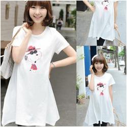 Ảnh số 9: Áo váy bầu họa tiết Snoopy XD 0088 - Giá: 142.000