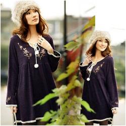 Ảnh số 15: Áo váy bầu cổ thêu xinh xắn XD 0618 - Giá: 185.000