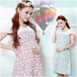 Ảnh số 20: Váy bầu họa tiết hoa nhí XD 0726 - Giá: 215.000