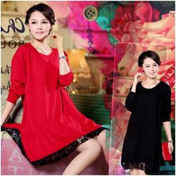 Ảnh số 46: Váy bầu mix ren thời trang HC 1337 - Giá: 350.000