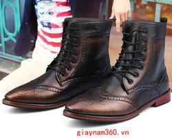 Ảnh số 51: Boot nam mã 51 (đen, đồng) - Giá: 800.000