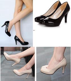 Ảnh số 36: Giày búp bê cao gót da bóng 8 phân - 250k - Giá: 250.000