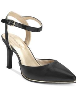 Ảnh số 45: Bandolino size 7  Sandals mũi nhọn, màu đen, có quai cài cổ chân  Cao 8cm , có thể thay móc cài - Giá: 1.600.000