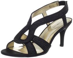 Ảnh số 57: Bandolino size 6  Sandals màu đen , đính cườm chắc chắn, chun sau gót đi dễ dàng  Cao 7cm - Giá: 1.600.000
