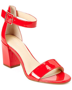 ?nh s? 71: Calvin klein size 6, 6.5, 7  Sandals màu đen da bóng màu đỏ cam  Quai cài cổ chân nữ tính , có thể thay móc  Cao 6cm - Giá: 1.900.000