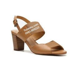 ?nh s? 81: Kelly & Katie size 6  Sandals màu da bò quai da pha chun  Sau gót có khóa in logo tên hãng , điều chỉnh rộng hẹp cổ chân  Cao 6cm - Giá: 1.800.000