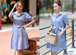 Ảnh số 40: B355: Beige, Sky Blue/ S, M - Váy liền xòe Hàn Quốc - Giá: 1.950.000
