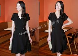 Ảnh số 35: B360: Black/ 55, 66, 77 - Váy liền xòe Hàn Quốc - Giá: 2.480.000