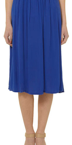 ?nh s? 30: Chân váy midi vải voan, màu xanh coban, 2lớp - Giá: 300.000