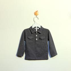 ?nh s? 84: Áo cotton bé trai màu ghi tàn - Giá: 1.000