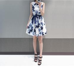 Ảnh số 12: Váy hoa kèm đai. Có 2 màu - Giá: 245.000