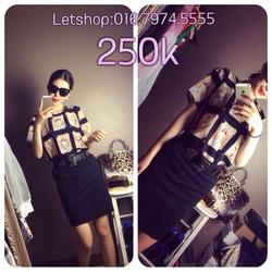 Ảnh số 68: Set váy rời áo mặt người + chân váy ôm kèm belt đính kèm - Giá: 250.000