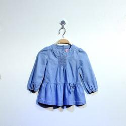 ?nh s? 2: Áo váy bò bé gái chun ngực - Giá: 1.000