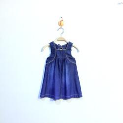?nh s? 3: Váy bò bé gái nơ sau phối dây lé kẻ be - Giá: 1.000